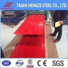 color coated metal roofing sheet/color wave plate corrugated sheet metal