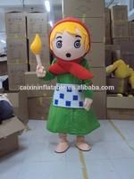 high quality The Little Match girl mascot costume