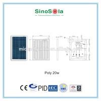 mini 20W small photovoltaic panel price solar panels for solar panel calculator with TUV/PID/CEC/CQC/IEC/CE