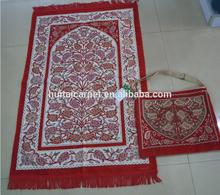 muslim mat BT- 814 muslim prayer rugs with bag Haji present