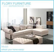 Fashionable customized corner sofa F851-3