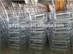 Resin Chivari Chairs Clear Resin/Plastic Chavari Chair