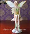 Polyresin ángel de baile estatuilla de los pares