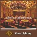 estilo europeu de luz de teto cristal colorido lustre de acrílico gotas