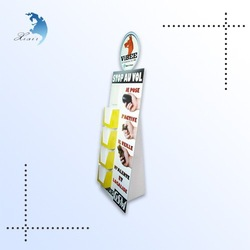 Custom retail store floor cardboard display stand for milk/promotional paper stand/corrugated plastic display stand