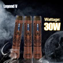 Kamry brand 510 wooden tube 30w mod legend 5 vapor ecig starter kits