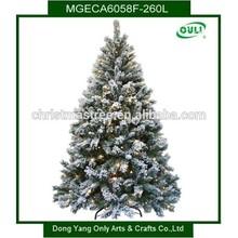 Perfect Holiday Prelit Christmas Tree, 6-Feet, Flocked Snow