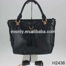 H2436 Lady Korean Hobo Tassel Cross Body Shoulder Bag Large Capacity Leather handbag