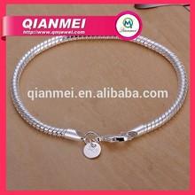 wholesale mens Bracelet 925 Sterling Silver Snake Chain Bracelet