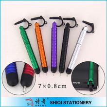 novelty mini smartphone touch stylus ballpen with dust plug
