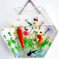 Wholesale small aquarium fish tank acrylic wall mount fish bowl