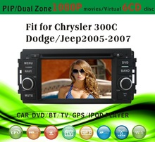 world tech car dvd fit for Jeep old Chrysler 300C Dodge 2005-2007 with radio bluetooth gps tv pip dual zone