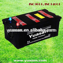 Yuasan Best DIN 200AH Truck Battery Auto Battery 12V Dry Charged Lead Acid Battery