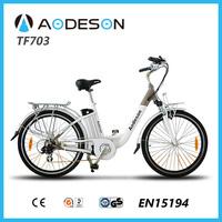 700c aluminium alloy 36V li-ion battery electric bike with 250w geared hub motorcycle