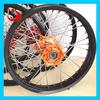 LangFang JS Factory KTM 125 Motocross Wheel For Dirt Bike Wheel Orange hub