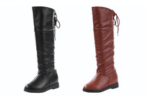 hot sales ladies casual flat boots