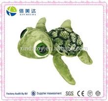Custom Cute Plush Big Dreamy Eyes Slide Sea Turtle Toy