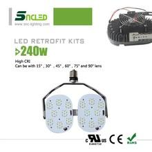 outdoor led lighting 240w led retrofit kits for street light/ gas canopy/ shoebox lighting