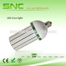 Pure white AC85-277V led e26 30w corn light daylight 3 years warranty