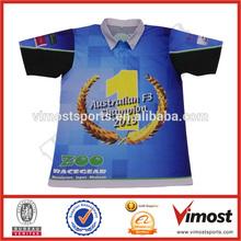 custom racing team wear/sublimation polo shirts