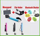 3.0 Wireless Clip Holder Bluetooth Self-timer Remote Monopod Stick