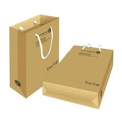 custom print paper die cut shopping bag foldable