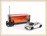 silver model 4 function plastic rc toy car for kids