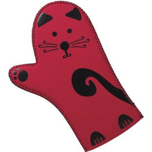 Customize Durable Cotton Oven Mitt With Silicone