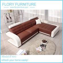 2 piece classic modern corner leather sofa