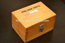 Vintage Bull Nose Center Wooden Storage Box