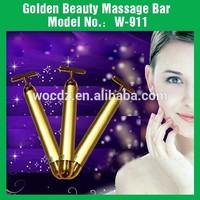 2014 New Design T Shape Facial Massager Beauty Bar 24K Gold Beauty Bar