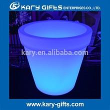 Most Biggest Outdoor Waterproof Plastic LED Flower Pot