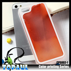 china supplier color printing clear plastic display case for Iphone6 case