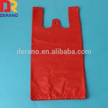colored custom plastic t-shirt shopping bags