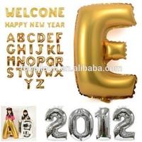 Hotsale Cheap inflatable alphabet shaped helium letter foil balloon