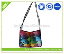 Foldable reusable recycle custom non woven laminated foldable messenger bag