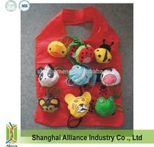 Cheap Nylon Promotional Foldable / Folding Shopping Bag in Animal Shape