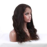 Premier 2015 Natural Looking Virgin Remy Human Hair Full Lace Long Black Wave Hair Wig