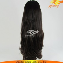 Wholesale Full Hand Made Skin Top Wavy Virgin Eurasian Hair Full Lace Wig