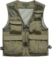 OEM multi pocket fishing vest men