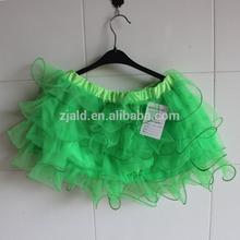 new green short sexy veiled girls's dress