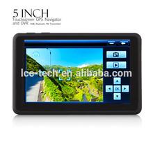 Portable 5 inch touch screen GPS Car DVR navigation
