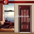 2014 venta caliente precio competitivo de la puerta de metal, acero puerta de seguridad, doble burlete de la puerta
