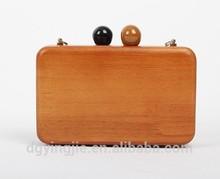 2015 vintage wooden clutch bag S20154