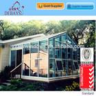Triangle sunroom aluminium winter garden with hinged door