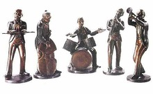 Bronze Jazz Band Figurines BS186A