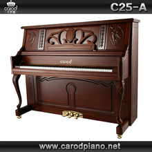 For sale mini toy C25-A walnut matte piano with piano cover and chair