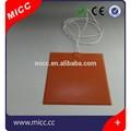 micc heißer verkauf 12v silikongummi heizung bett 300mm x 300mm silikonkautschuk