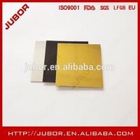 gold cardbord cake pad,5inch square small cake boards