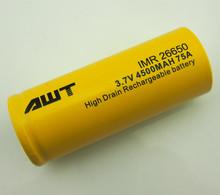 AWT 3.7v 4500 mah batteria al litio ricaricabile 26.650 18.650 batterie per vapore super sigaretta elettronica